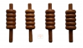 getpaddedup ECO VARNISHED CRICKET BAILS (SET OF FOUR)